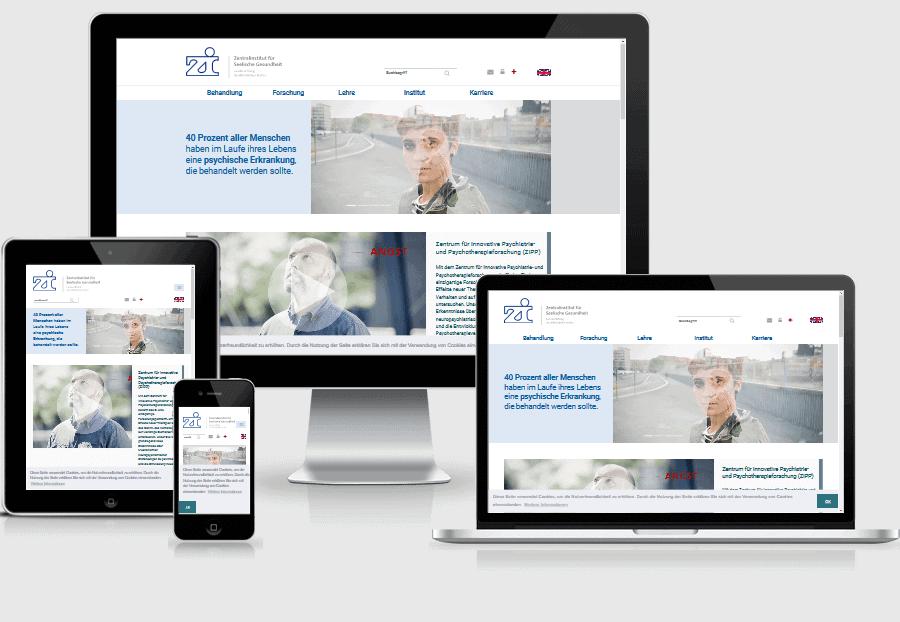 responsive Webdesign ZI Mannheim